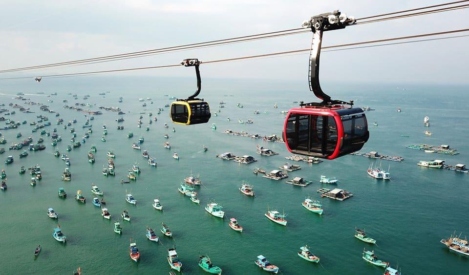 Cáp treo hòn Thơm là cáp treo vượt biển dài nhất thế giới