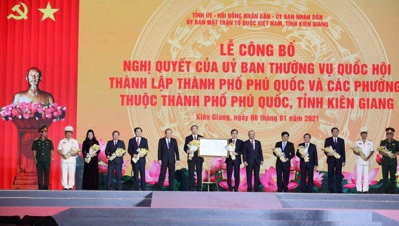 Lễ công bố thành lập thành phố Phú Quốc