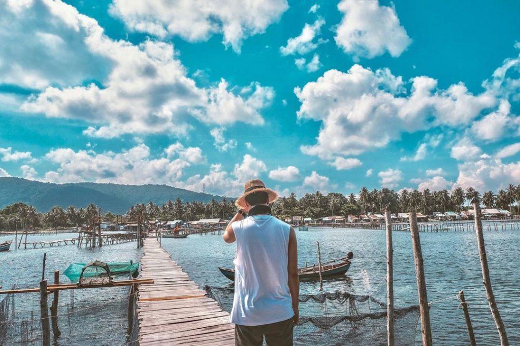 Làng chài Rạch Vẹm Phú Quốc vô cùng thơ mộng